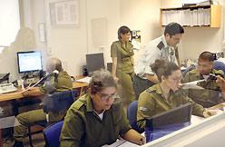 The IDF Spokesman's foreign press liaison propaganda unit in Jerusalem. Photo: Ariel Jerozolimski