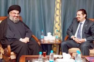 Sheikh Nasrallah and Saad Hariri