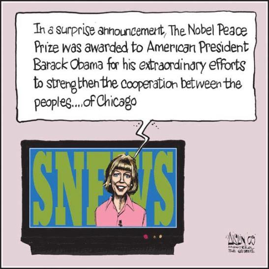 Aislin Obama Nobel